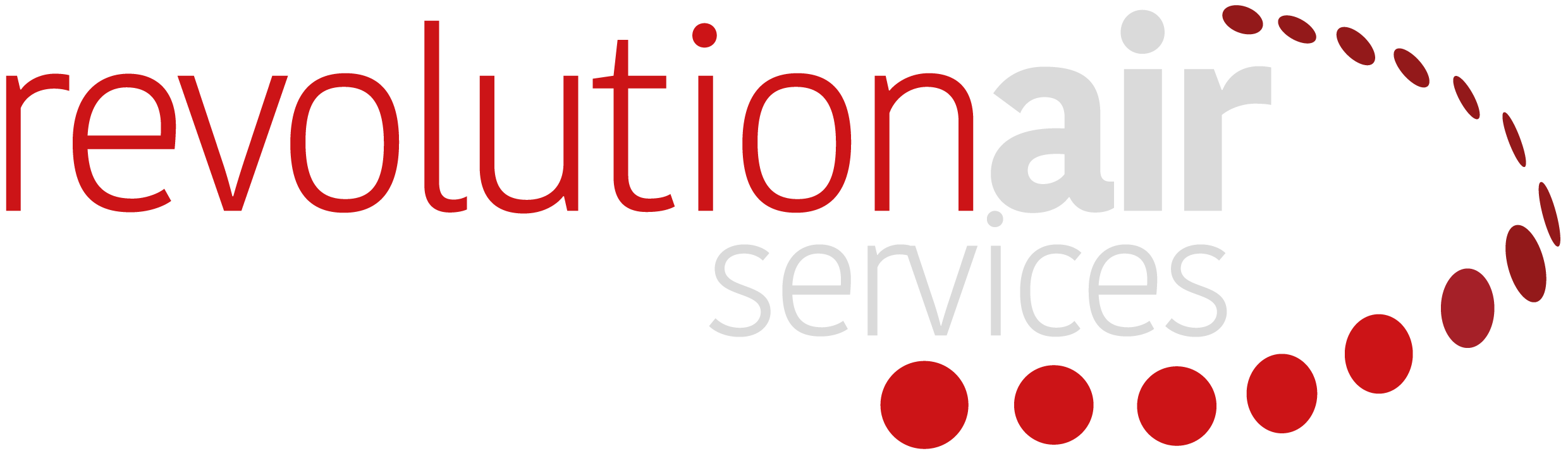 Revolution Air Services Gloucester White Logo